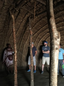 Inside a traditional beehive hut. Our whole tour group, maybe 20 people, fit in easily